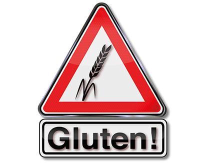 Verkehrszeichen Achtung Gluten!