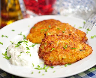 Kartoffel-Rösti mit Kräuterquark