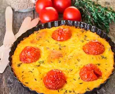 Tomaten-Polenta-Auflauf