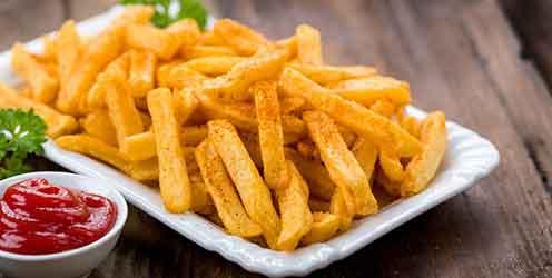 Pommes frites und Ketchup können Gluten enthalten