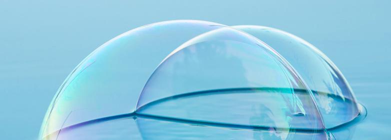Luftblasen als Symbol für einen Blähbauch