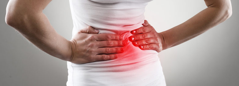 Schematische Darstellung Bauchschmerzen und Bauchkrämpfe